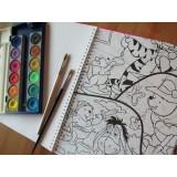 دفتر نقاشی نادری 30 برگ رحلی مفتولی 8 رنگ پنتون با رنگ آمیزي