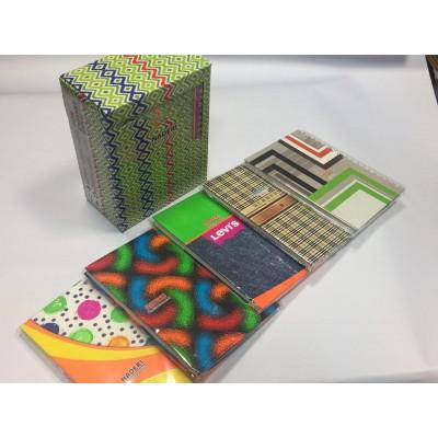 دفتر نادری 100 برگ سلفونی فنر دوبل دانشجویی با جعبه
