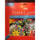 مدادرنگي Faber-castell ٦٠رنگ مقوایی