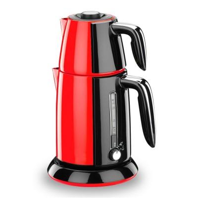 چاي ساز برقي کرکماز Korkmaz استيل - قرمز