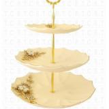 شیرینی خوری 3طبقه سرامیک طلایی