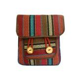 کیف دوشی حصیری ( دو دکمه )