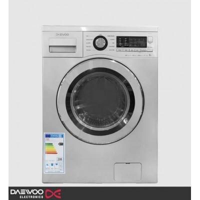 ماشین لباسشویی دوو تمام هوشمند 9 کیلویی مدل DWK-9110W سفید درب سفید