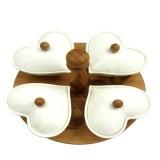 ست فنجان 6 نفره چوب چینی قلبی مدل 49701 برایتون